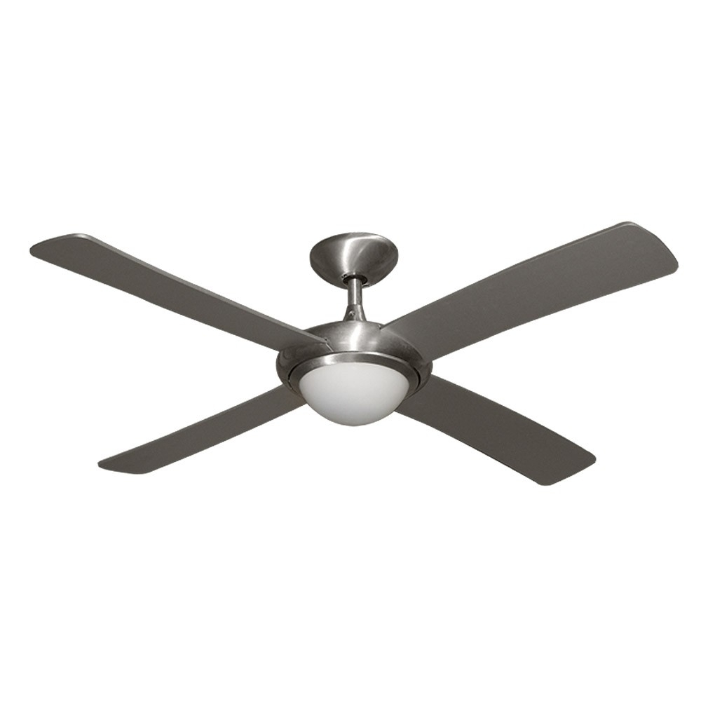 "Inspiration about Gulf Coast Luna Fan – 52"" Modern Outdoor Ceiling Fan – Brushed Pertaining To Outdoor Ceiling Fans With Wet Rated Lights (#9 of 15)"