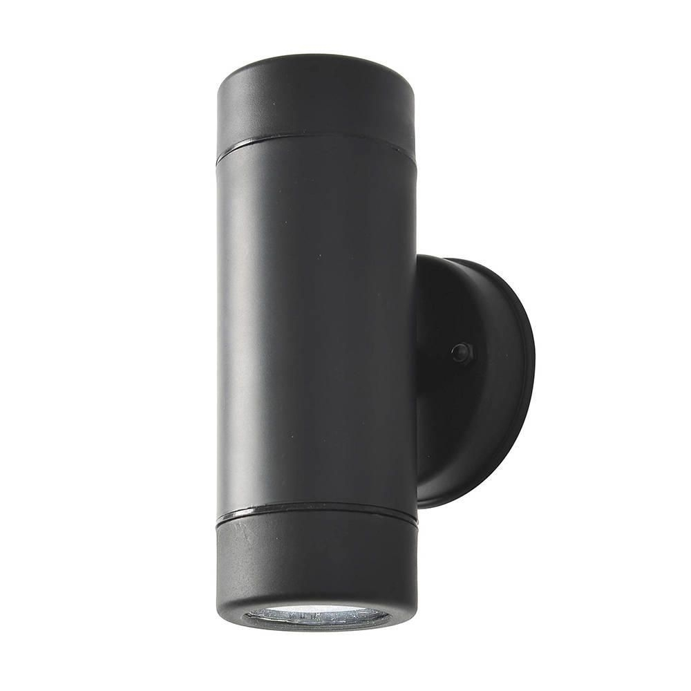 Hahn Black Outdoor Polycarbonate Led Single Wall Light Pertaining To Outdoor Up Down Wall Led Lights (#7 of 15)