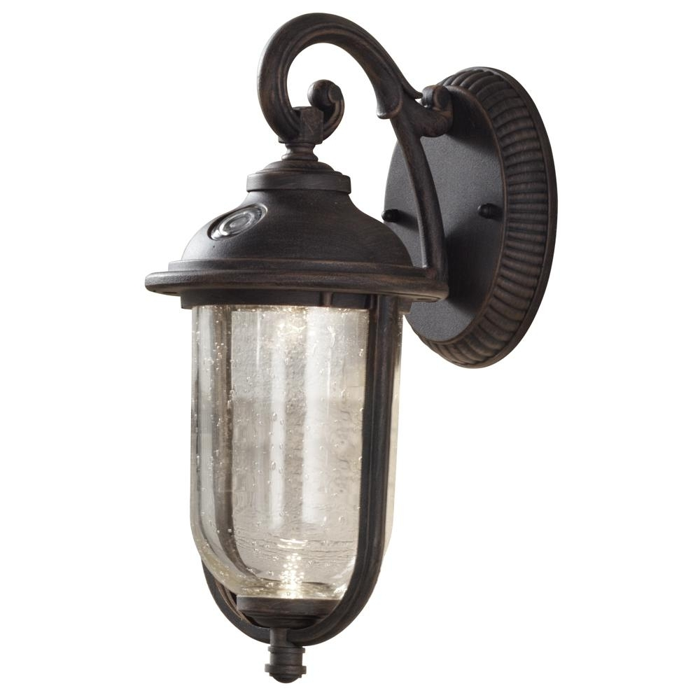 Hampton Bay Cambridge Collection 1 Light Essex Bronze Outdoor Wall For Hampton Bay Outdoor Lighting And Lamps (#11 of 15)