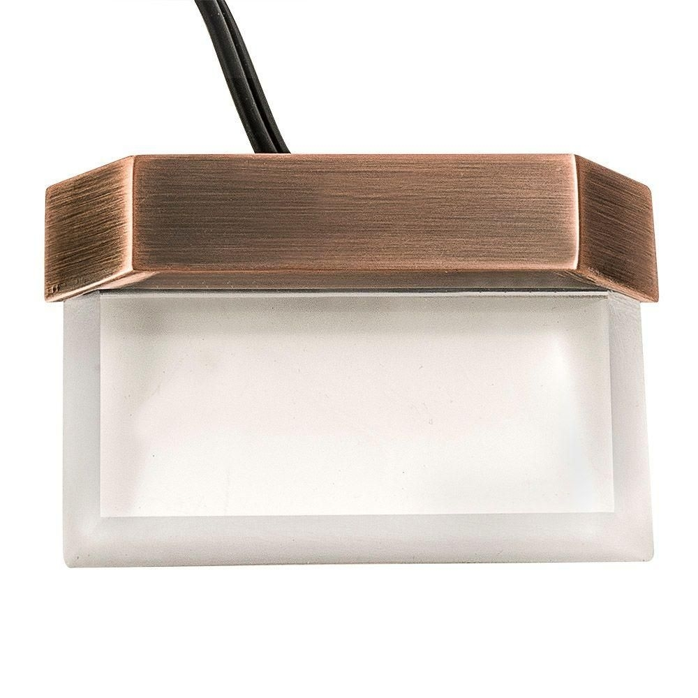 Hampton Bay Low Voltage Antique Brass Outdoor Integrated Led Plastic Pertaining To Modern Low Voltage Deck Lighting At Home Depot (#3 of 15)