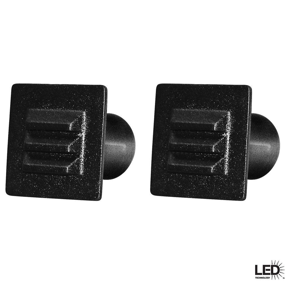 Hampton Bay Low Voltage Black Integrated Led Square Deck Light (2 Inside Low Voltage Deck Lighting At Home Depot (#2 of 15)