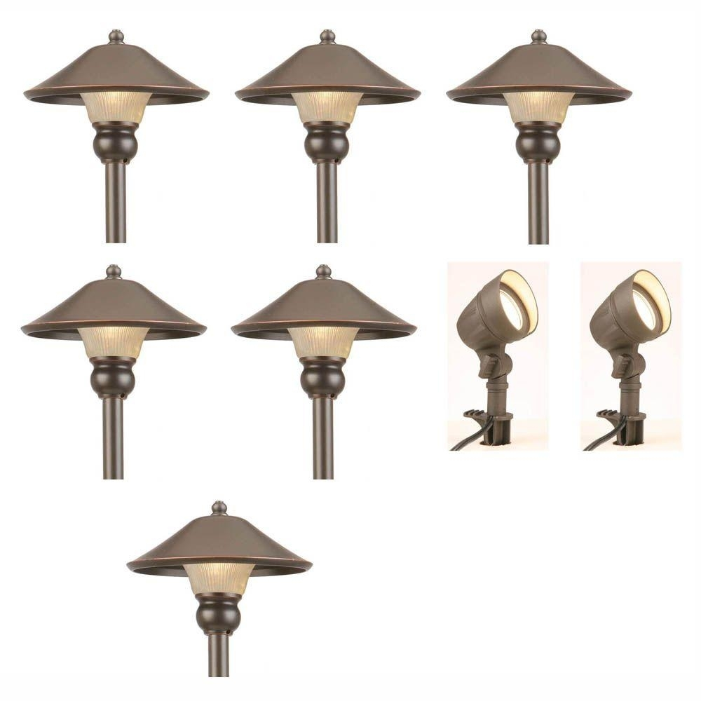 Hampton Bay Low Voltage Bronze Outdoor Integrated Led Landscape Path In Low Voltage Outdoor Ceiling Lights (#4 of 15)