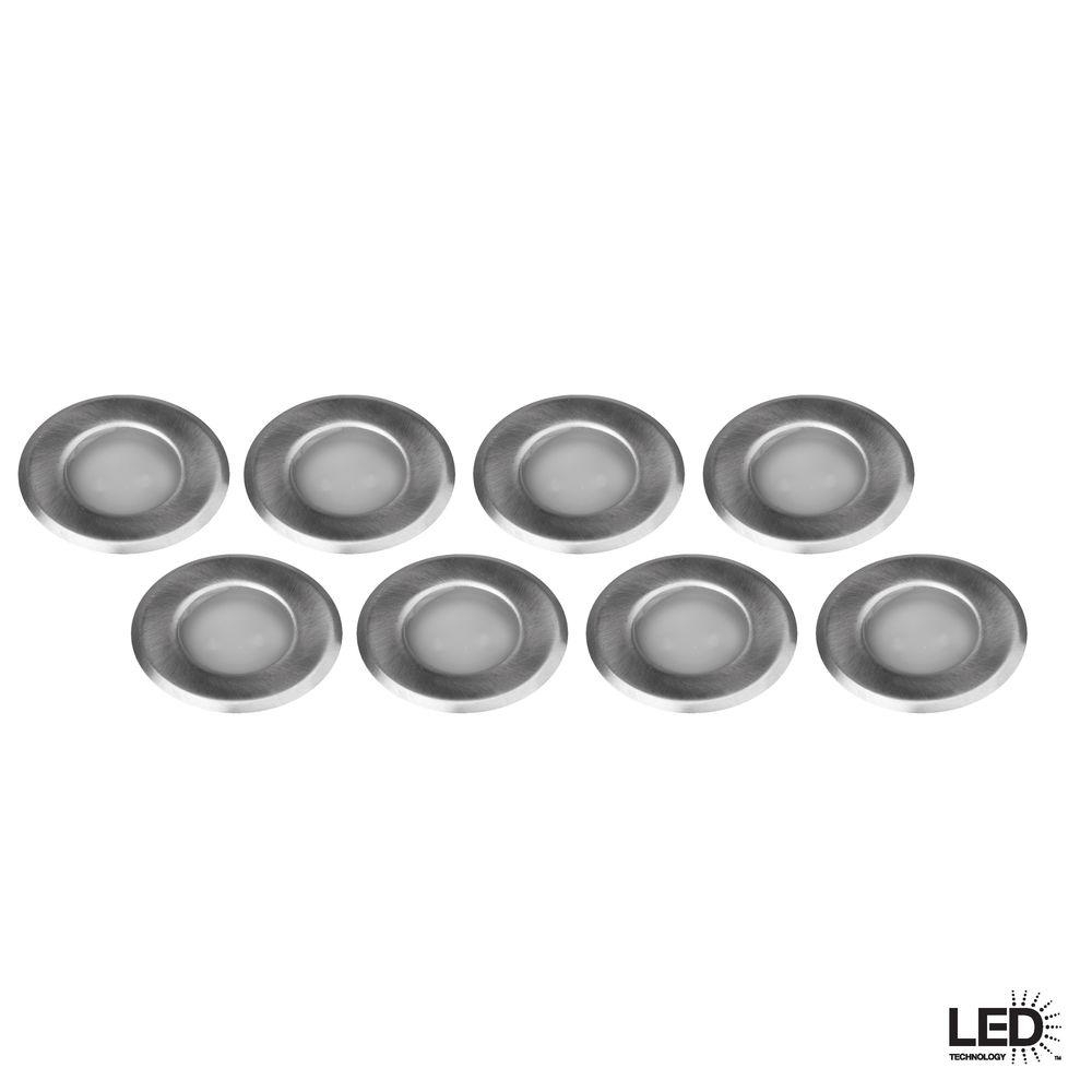 Hampton Bay Low Voltage Stainless Steel Integrated Led Deck Light (8 Within Low Voltage Deck Lighting At Home Depot (#5 of 15)