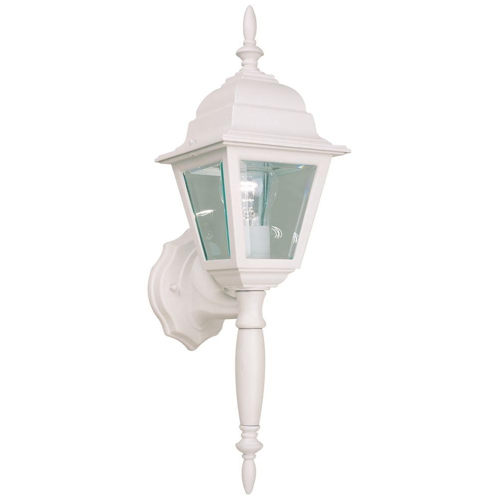 Hampton Bay White Outdoor Wall Lantern Hb7023P 06 – The Home Depot Throughout White Outdoor Wall Lights (#7 of 15)