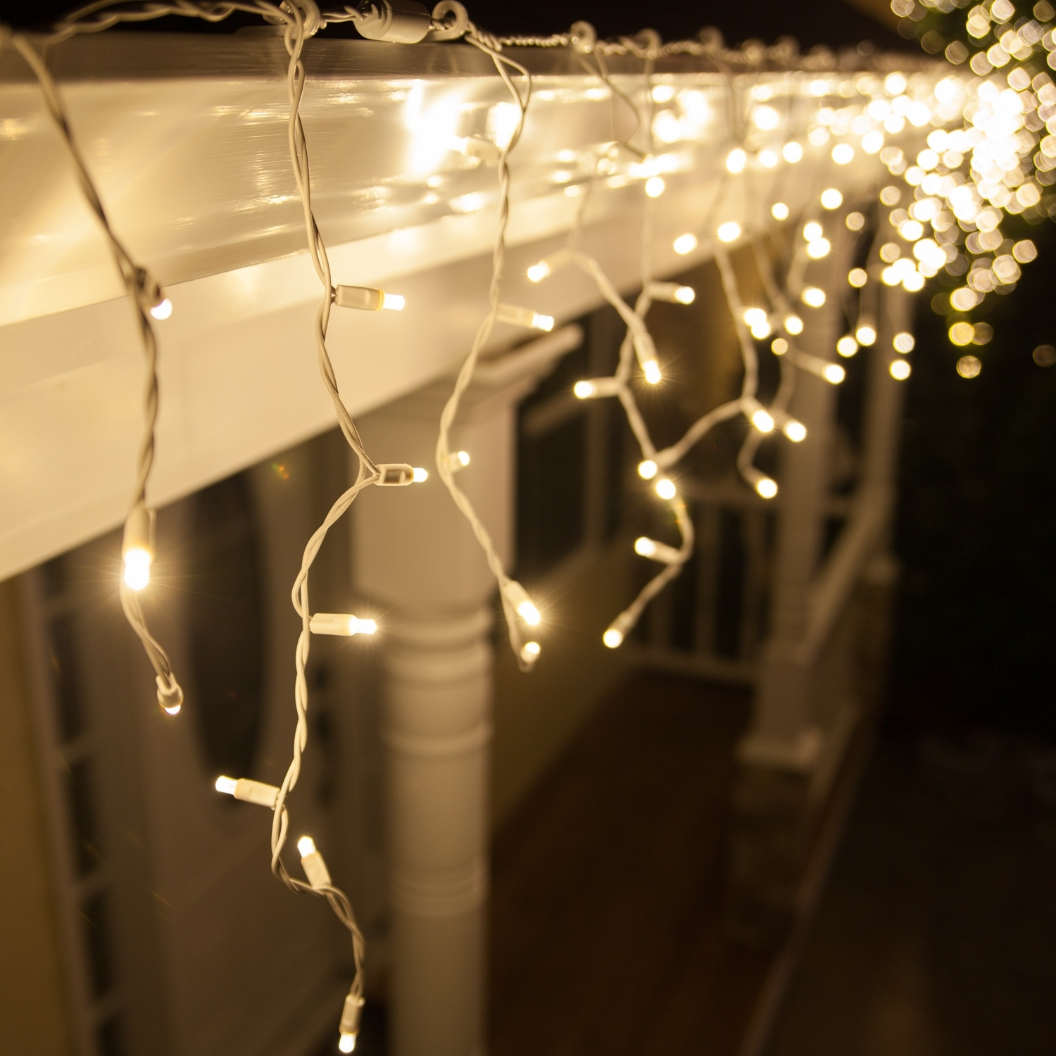 Hang Warm White Icicle Lights Outdoors And Inside Too! So Cozy For Throughout Outdoor Hanging Xmas Lights (View 9 of 15)