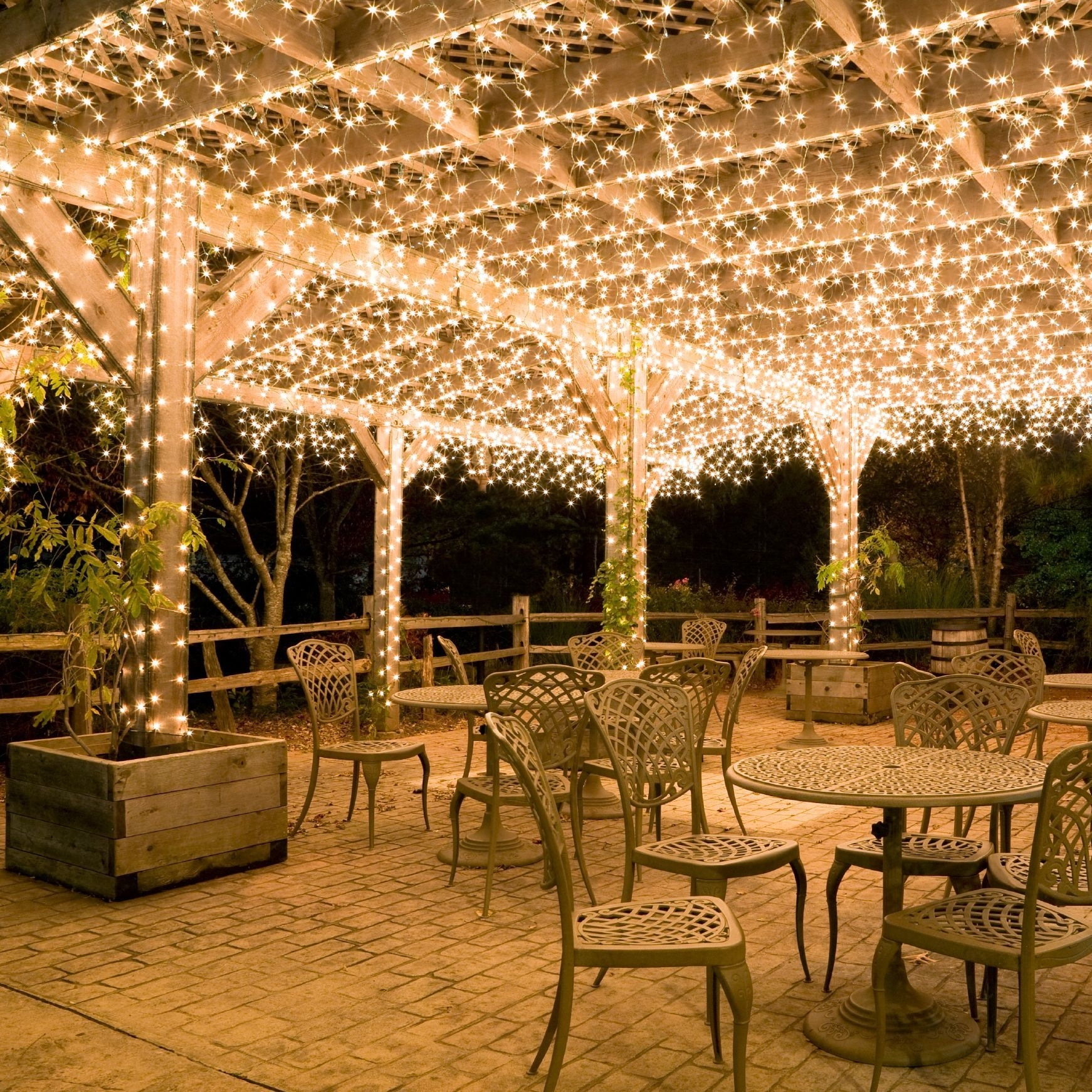 Hang White Icicle Lights To Create Magical Outdoor Lighting (#7 of 15)