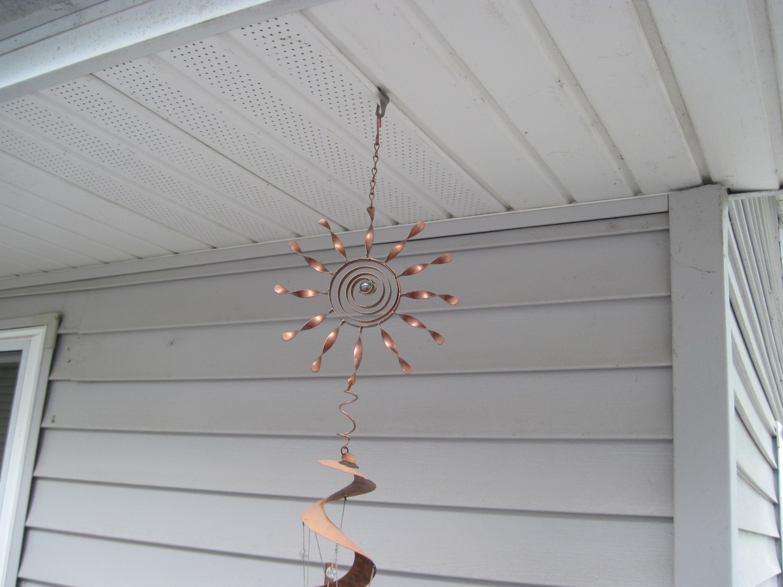 Hang Wind Chime From Soffit | For Our Home | Pinterest | Decking And Intended For Hanging Outdoor Lights On Vinyl Siding (#3 of 15)