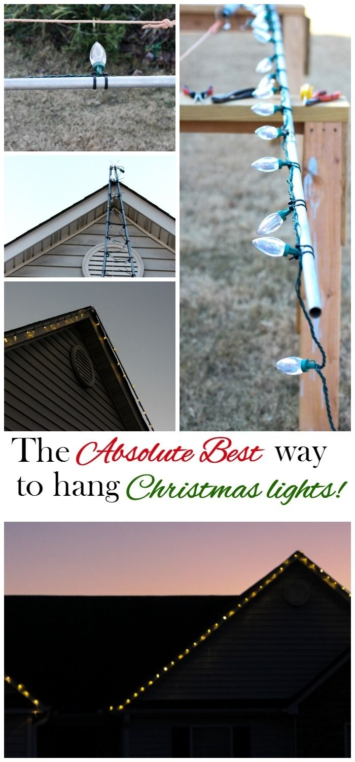 Hanging Christmas Lights The Easy Way | Hanging Christmas Lights Inside Hanging Outdoor Christmas Lights Hooks (#7 of 15)