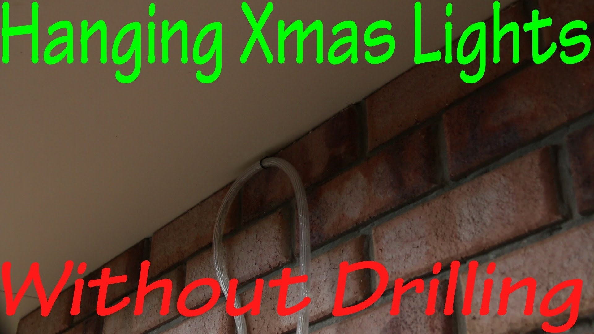 Hanging Christmas Lights Without Drilling In To Bricks – Youtube Within Hanging Outdoor Lights On Brick (#9 of 15)