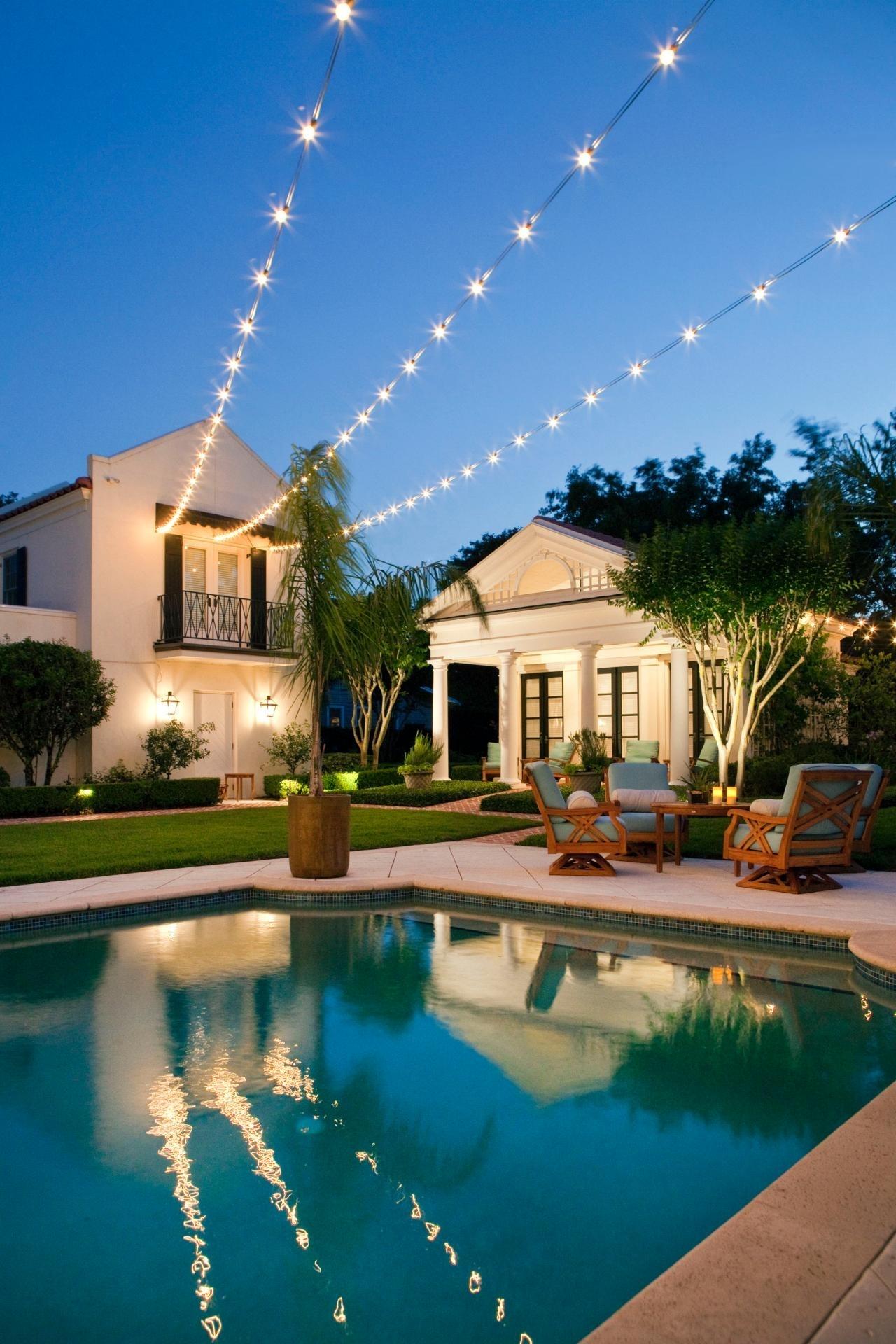 Popular Photo of Outdoor Hanging Pool Lights