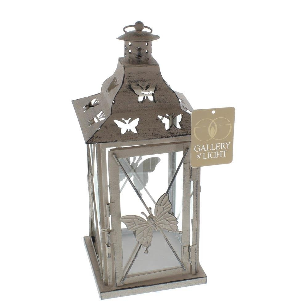 Hanging Lantern, Butterfly Metal Decorative Floor Patio Outdoor In Outdoor Hanging Decorative Lanterns (#5 of 15)