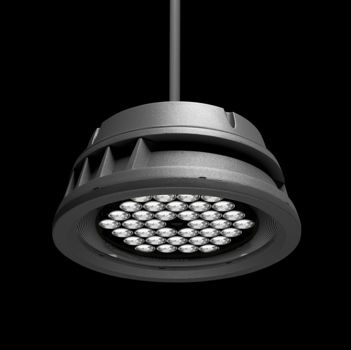 Hanging Light Fixture / Led / Round / Outdoor – Lumenbeam Large With Round Outdoor Hanging Lights (View 12 of 15)