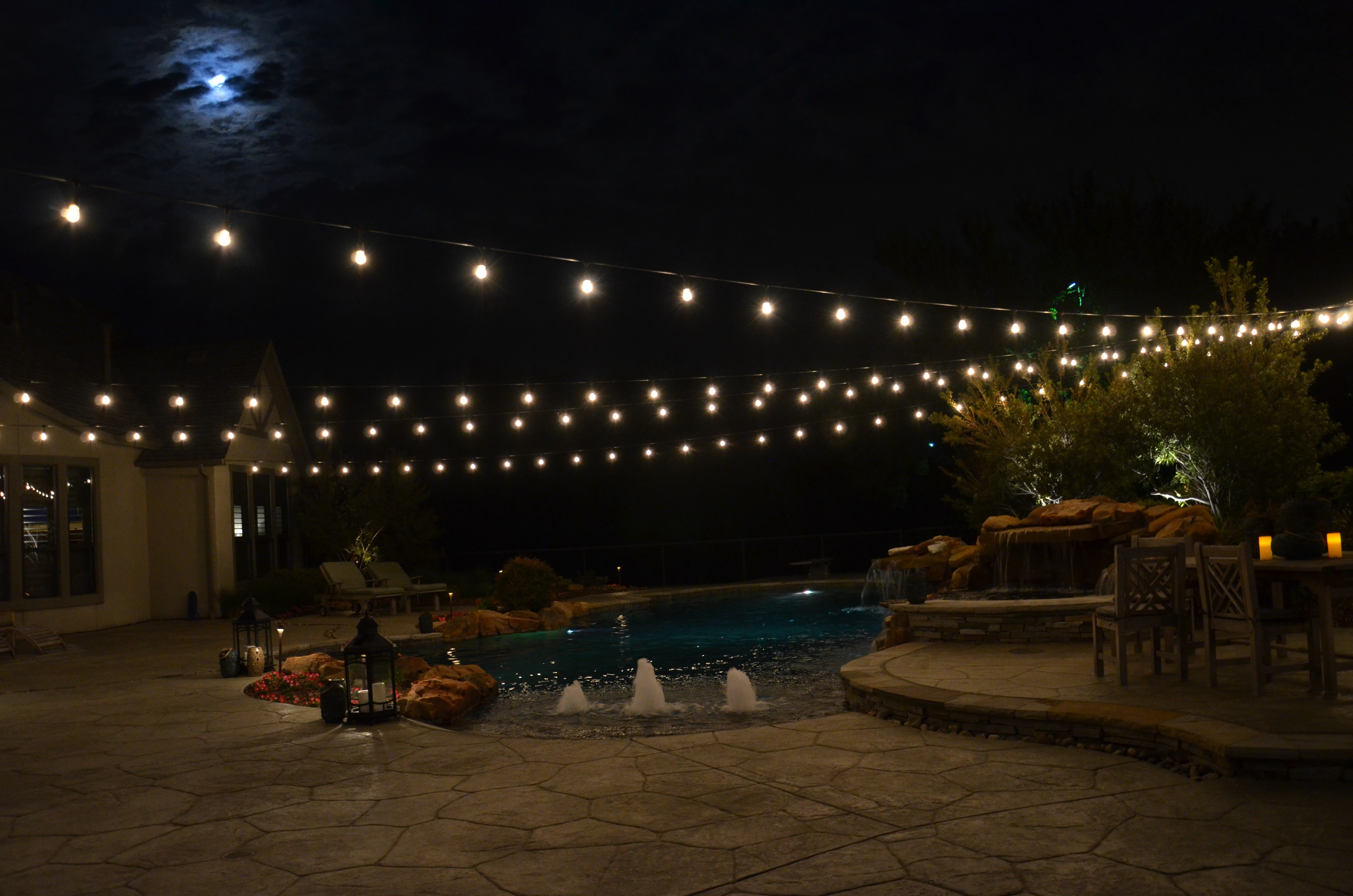 Hanging Lights Above Your Pool Can Add A Beautiful Ambiance To Your Intended For Outdoor Hanging Pool Lights (#6 of 15)