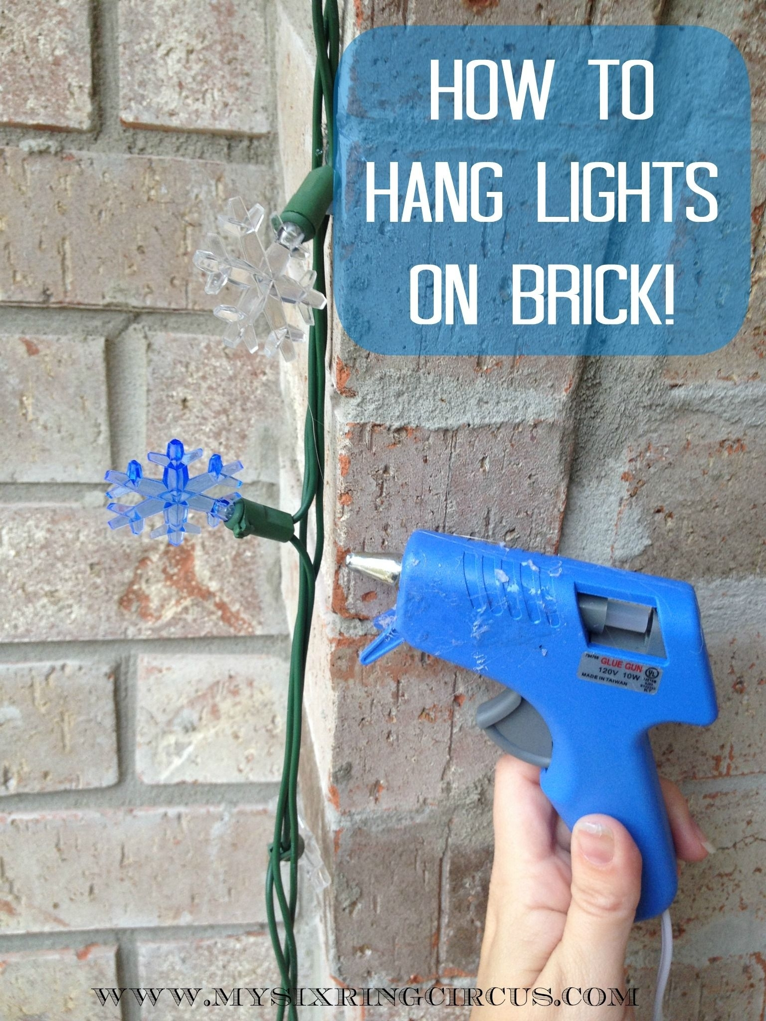 Hanging Lights | Clever Hacks And Tips | Pinterest | Bricks, Third In Hanging Outdoor Lights On Brick (#10 of 15)