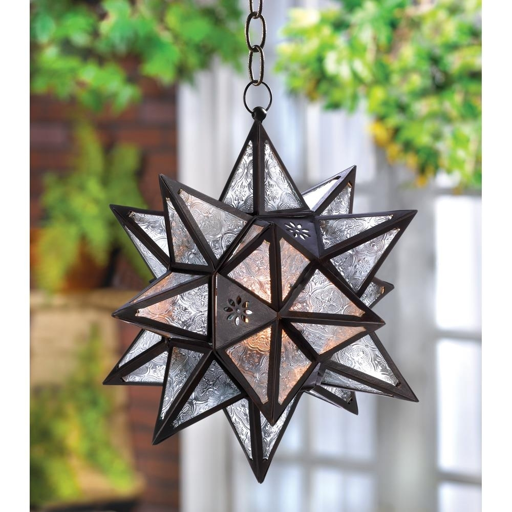 Hanging Moroccan Star Lantern Wholesale At Koehler Home Decor Within Outdoor Hanging Star Lanterns (#4 of 15)