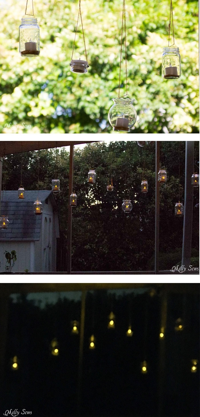 Hanging Solar Tea Lights – Melly Sews With Regard To Outdoor Hanging Tea Lights (View 12 of 12)