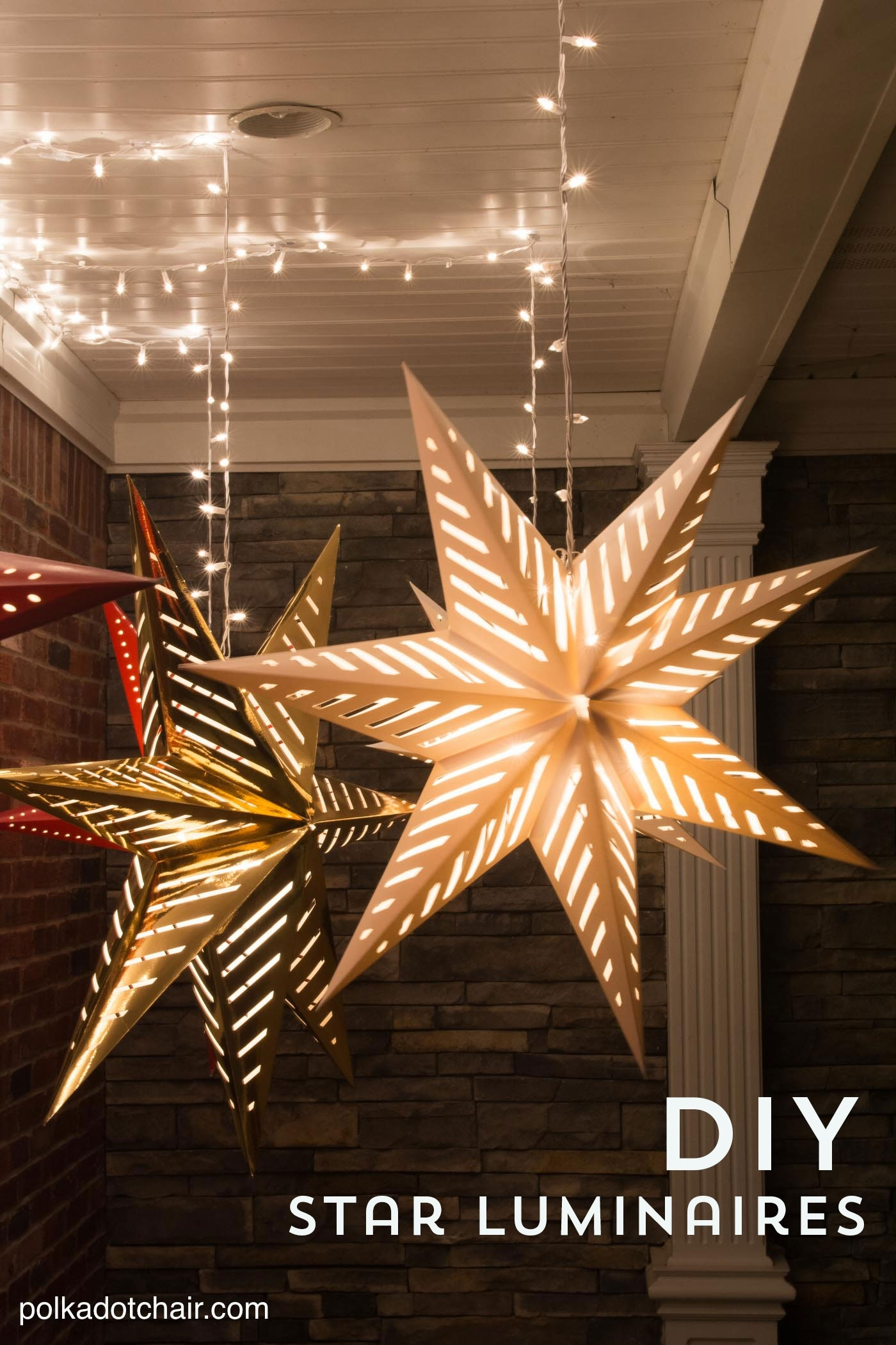 Hanging Star Lanterns; A Christmas Front Porch Decorating Idea – The Intended For Outdoor Hanging Star Lanterns (#5 of 15)