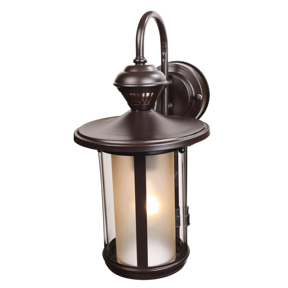 Heath Zenith 1 Light Oil Rubbed Bronze Motion Activated Outdoor Wall Within Heath Zenith Outdoor Wall Lighting (#5 of 15)