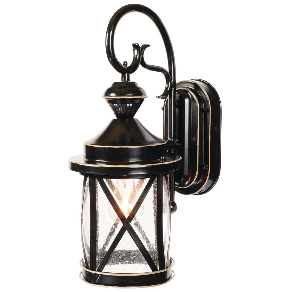 Heath Zenith 1 Light Satin Black Motion Activated Outdoor Wall Mount For Heath Zenith Outdoor Wall Lighting (#6 of 15)