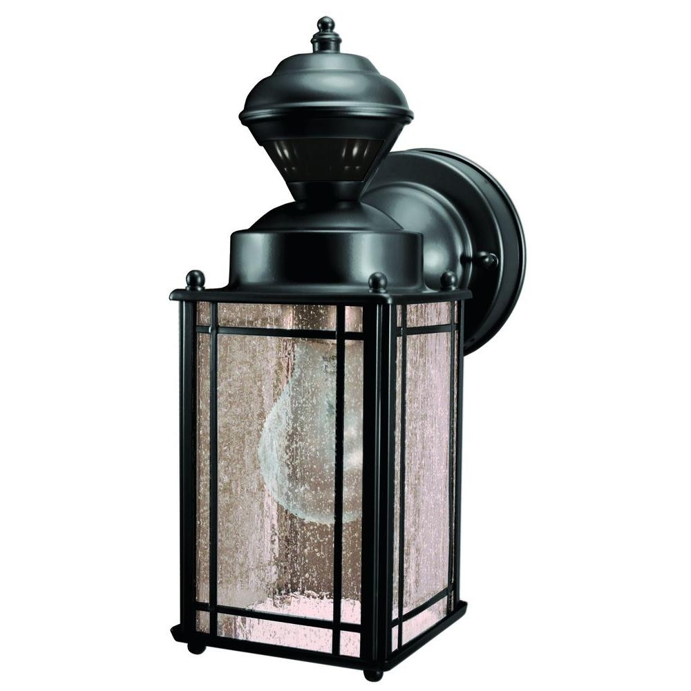 Heath Zenith Shaker Cove Mission 150 Degree Black Motion Sensing With Outdoor Wall Lights With Security Camera (#4 of 15)