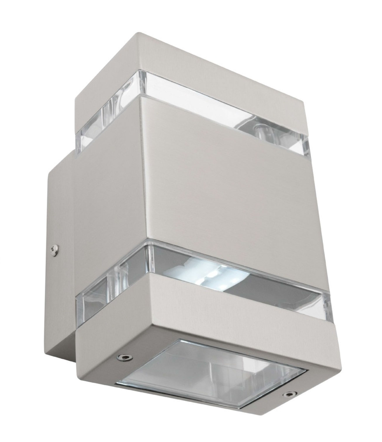 Hedland Led Up/down Wall Light Stainless Steel | Online Lighting Inside Outdoor Up Down Wall Led Lights (#8 of 15)