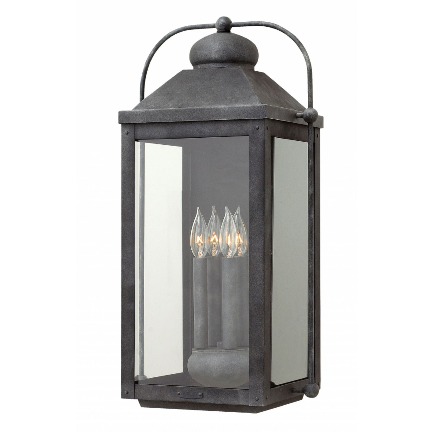 Hinkley 1858Dz Anchorage 4 Light Outdoor Extra Large Wall Mount In Throughout Extra Large Outdoor Wall Lighting (#7 of 15)
