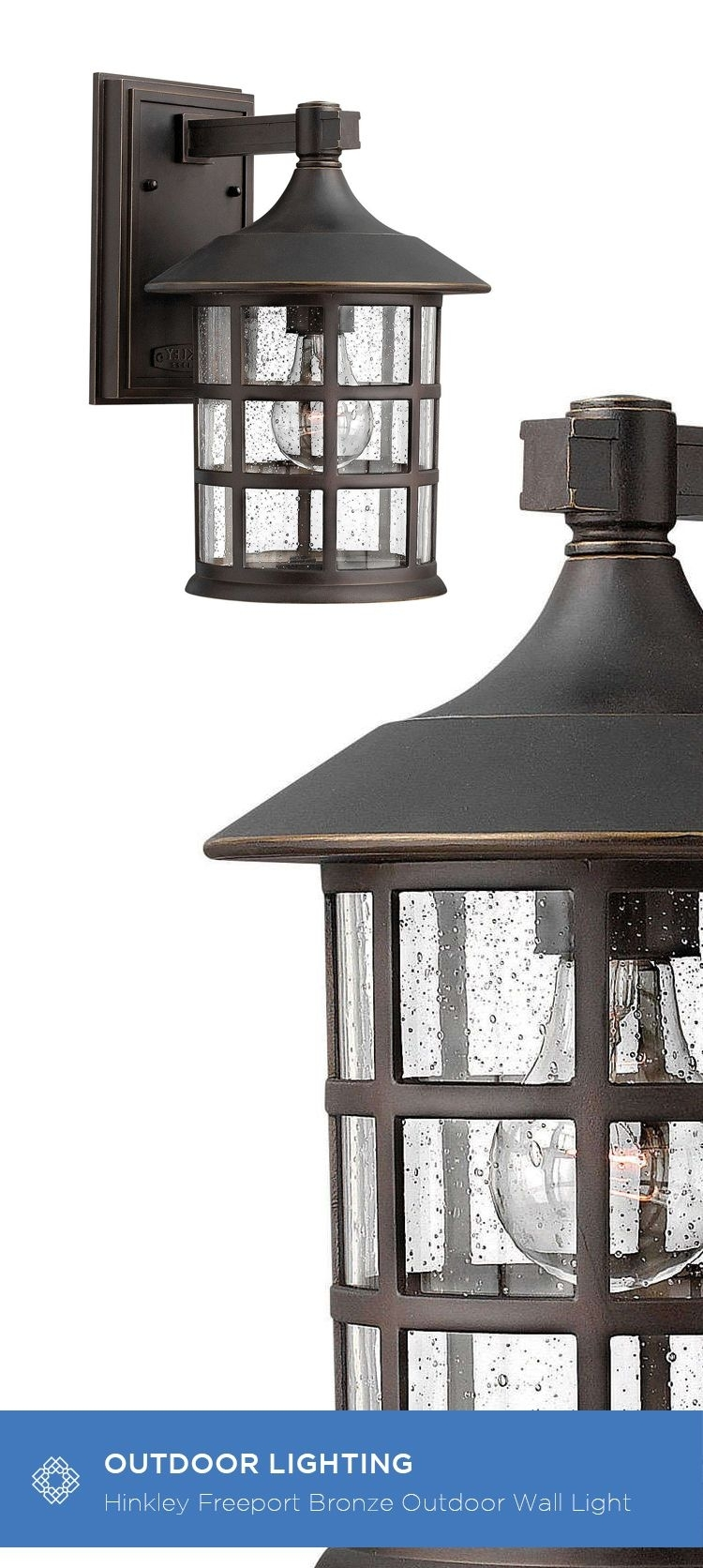 Hinkley Freeport Oil Rubbed Bronze One Light Medium Outdoor Wall For New England Style Outdoor Lighting (View 10 of 15)