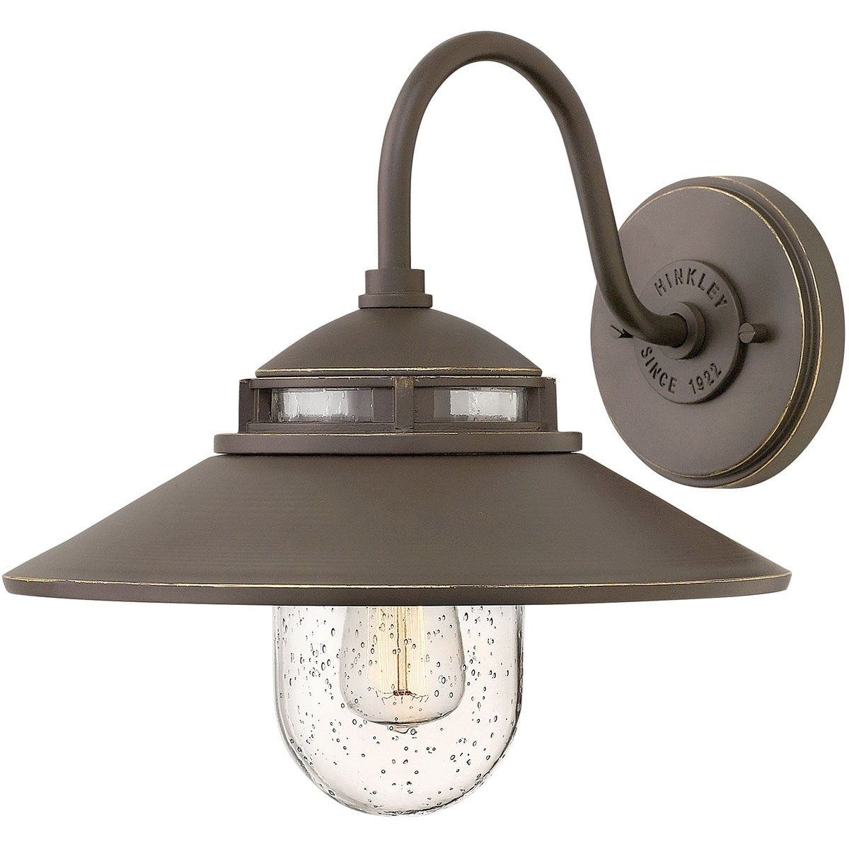 Hinkley Lighting 1110Oz Atwell 1 Light 12 Inch Oil Rubbed Bronze Throughout Double Wall Mount Hinkley Lighting (#7 of 15)