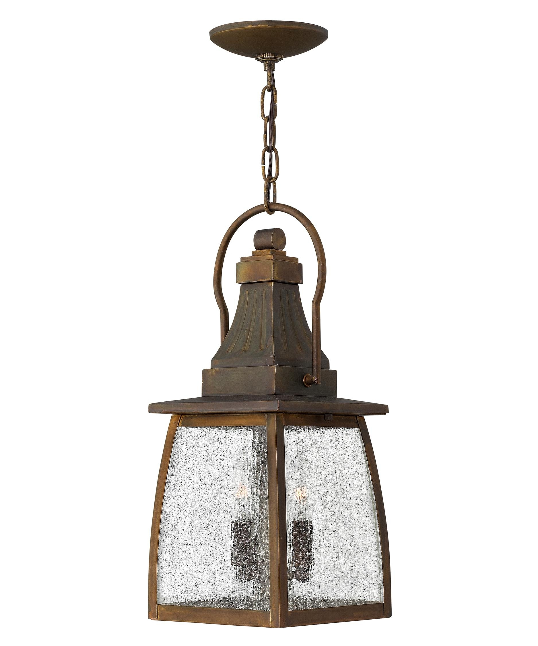 Hinkley Lighting 1202 Montauk 7 Inch Wide 2 Light Outdoor Hanging Pertaining To Modern Latern Hinkley Lighting (#9 of 15)