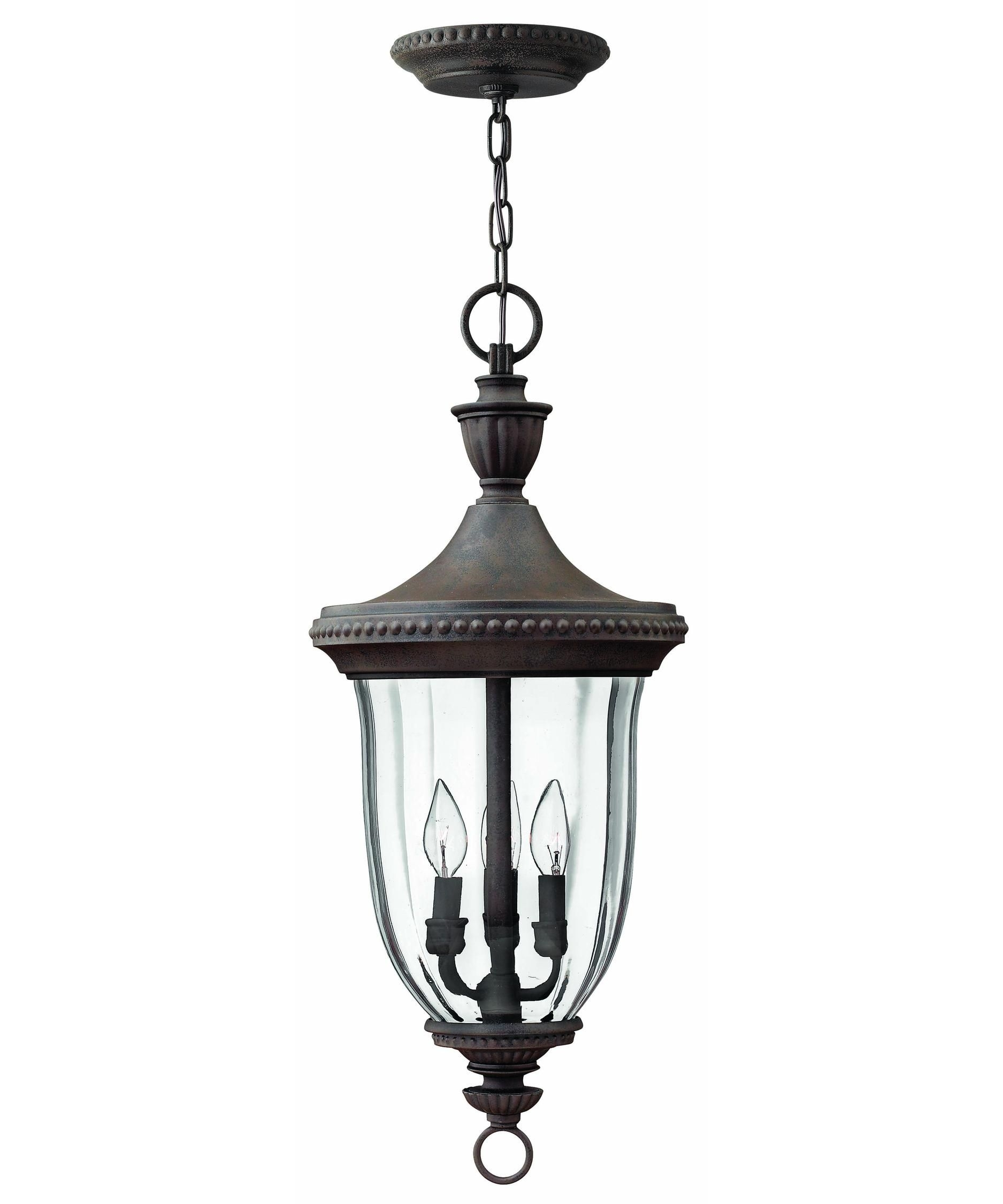 Hinkley Lighting 1242 Oxford 3 Light Outdoor Hanging Lantern | Deck Throughout Outdoor Hanging Entry Lights (#6 of 15)