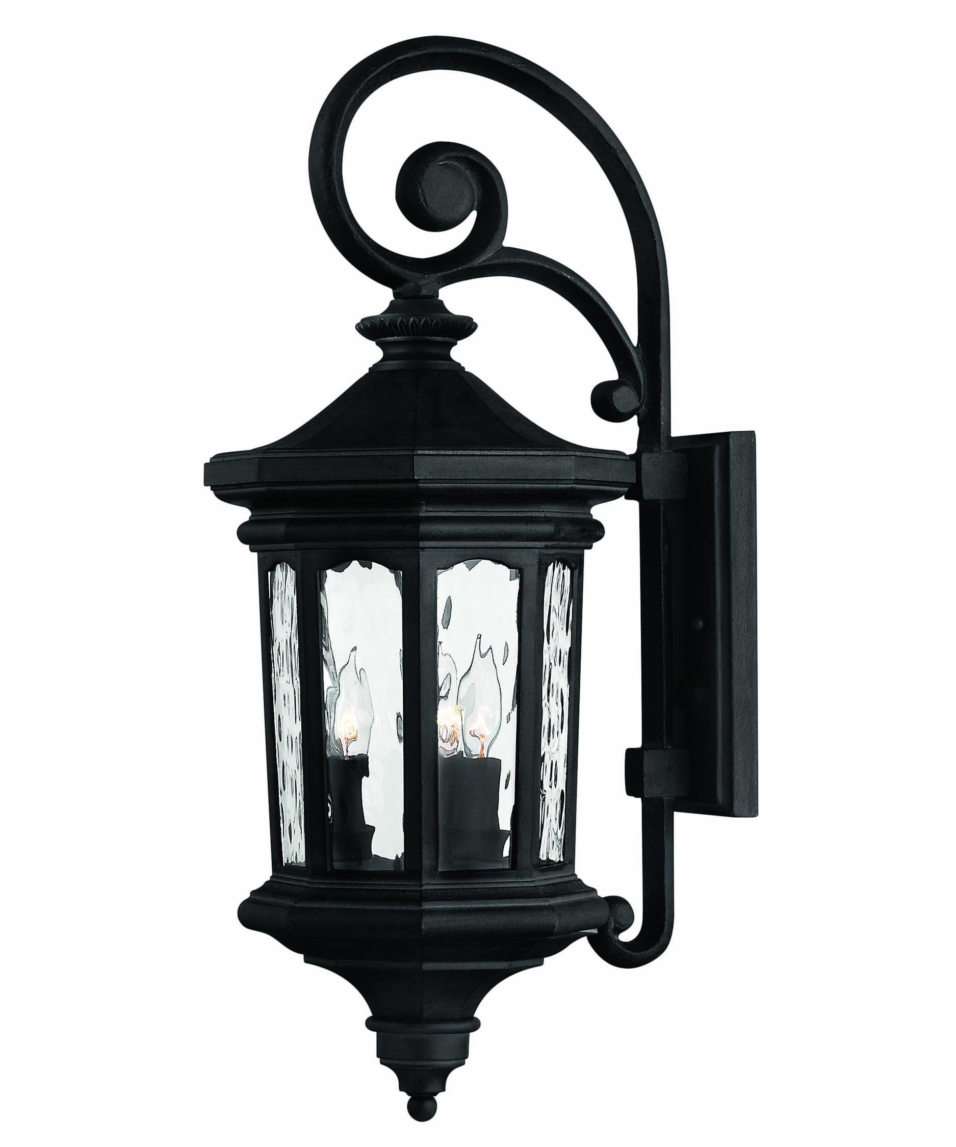 Hinkley Lighting 1604 Raley 10 Inch Wide 3 Light Outdoor Wall Light Throughout Traditional Outdoor Wall Lights (#8 of 15)
