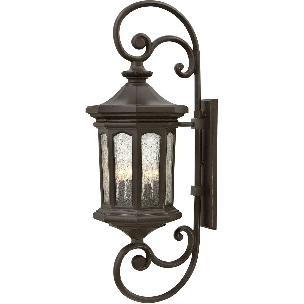 Hinkley Lighting 1609Oz Raley 4 Light 42 Inch Oil Rubbed Bronze Pertaining To Double Wall Mount Hinkley Lighting (#8 of 15)