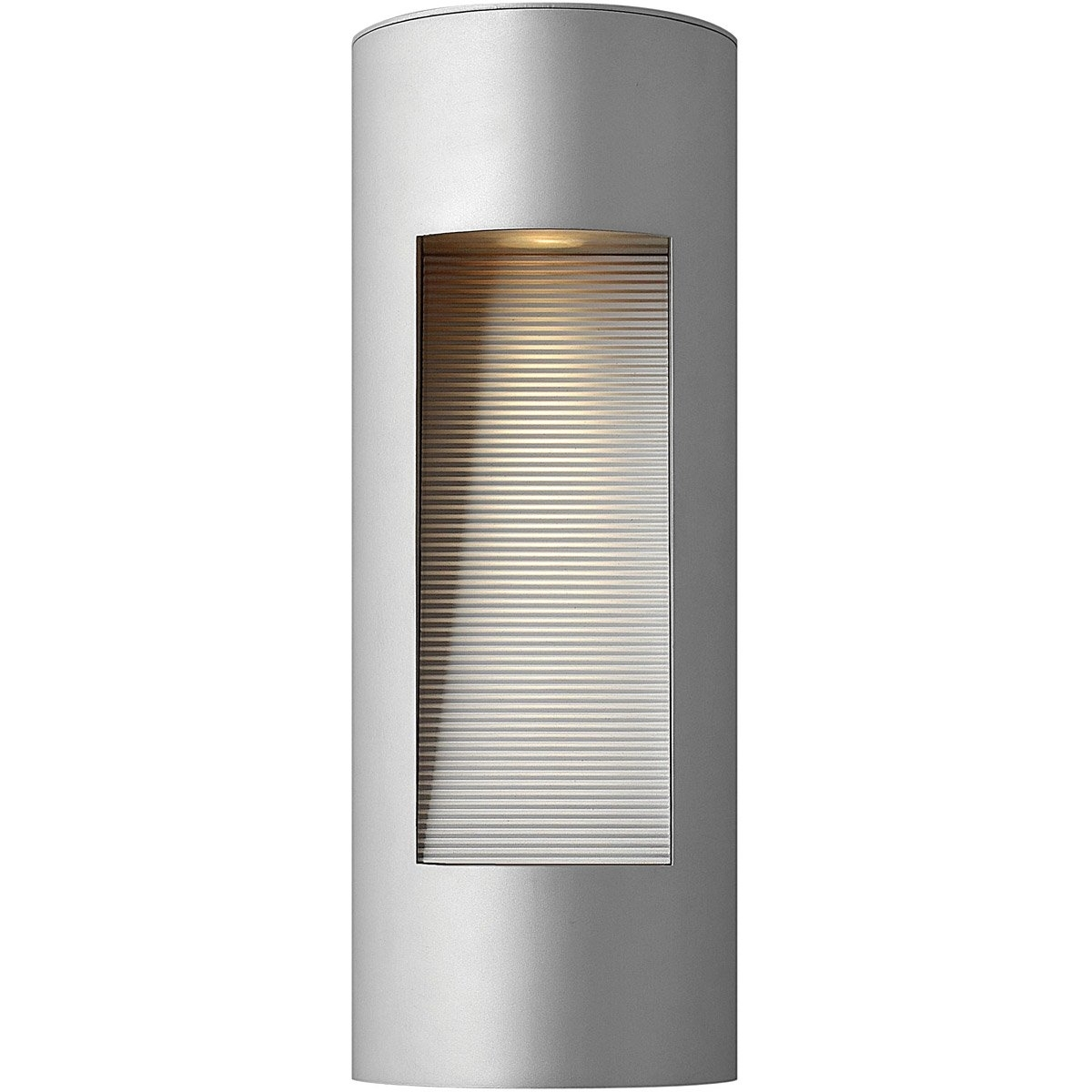 Hinkley Lighting 1660Tt Luna 2 Light 16 Inch Titanium Outdoor Wall Within Double Wall Mount Hinkley Lighting (#9 of 15)