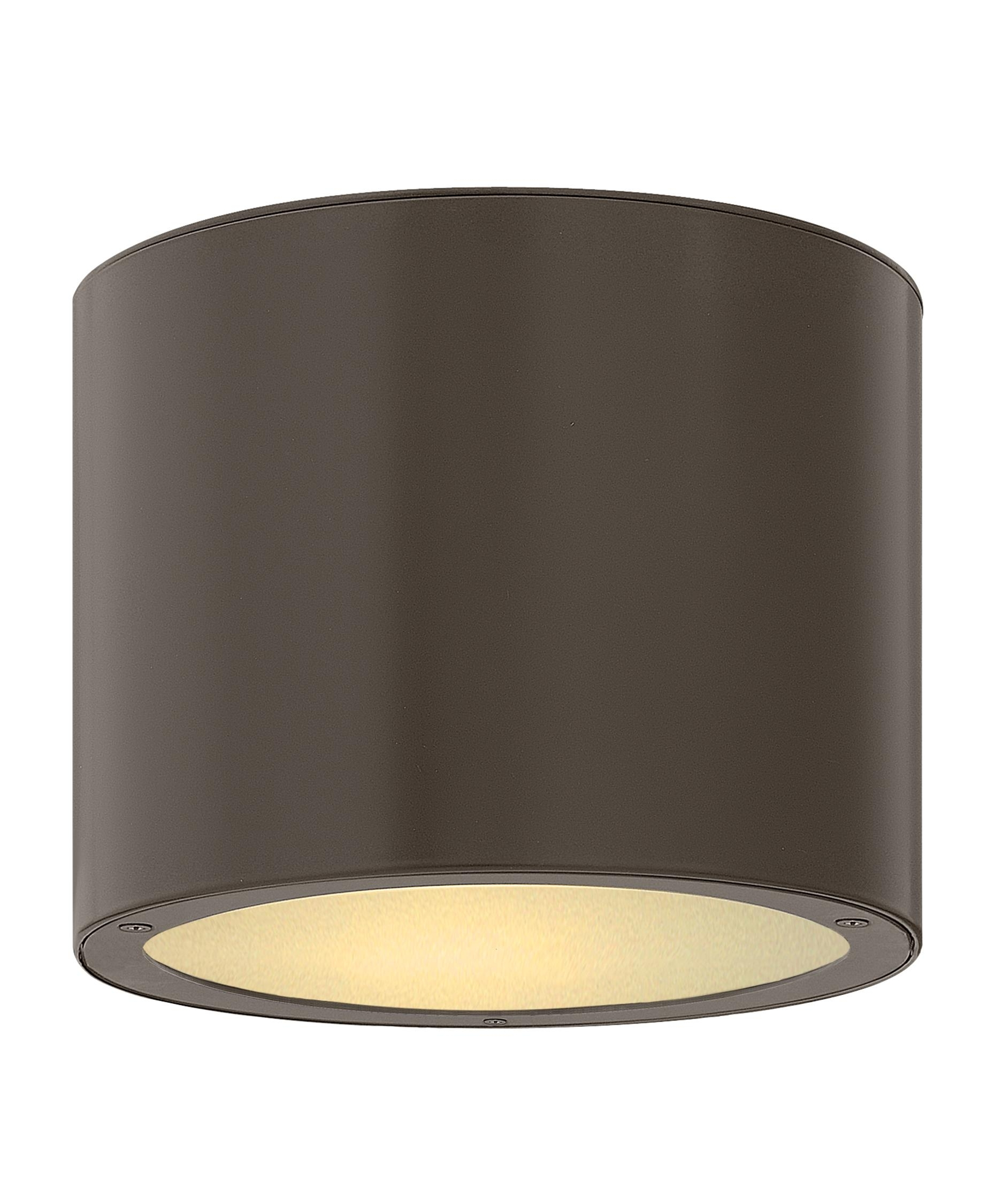 Hinkley Lighting 1663 Luna 8 Inch Wide 1 Light Outdoor Flush Mount Pertaining To Outdoor Ceiling Lights (#8 of 15)