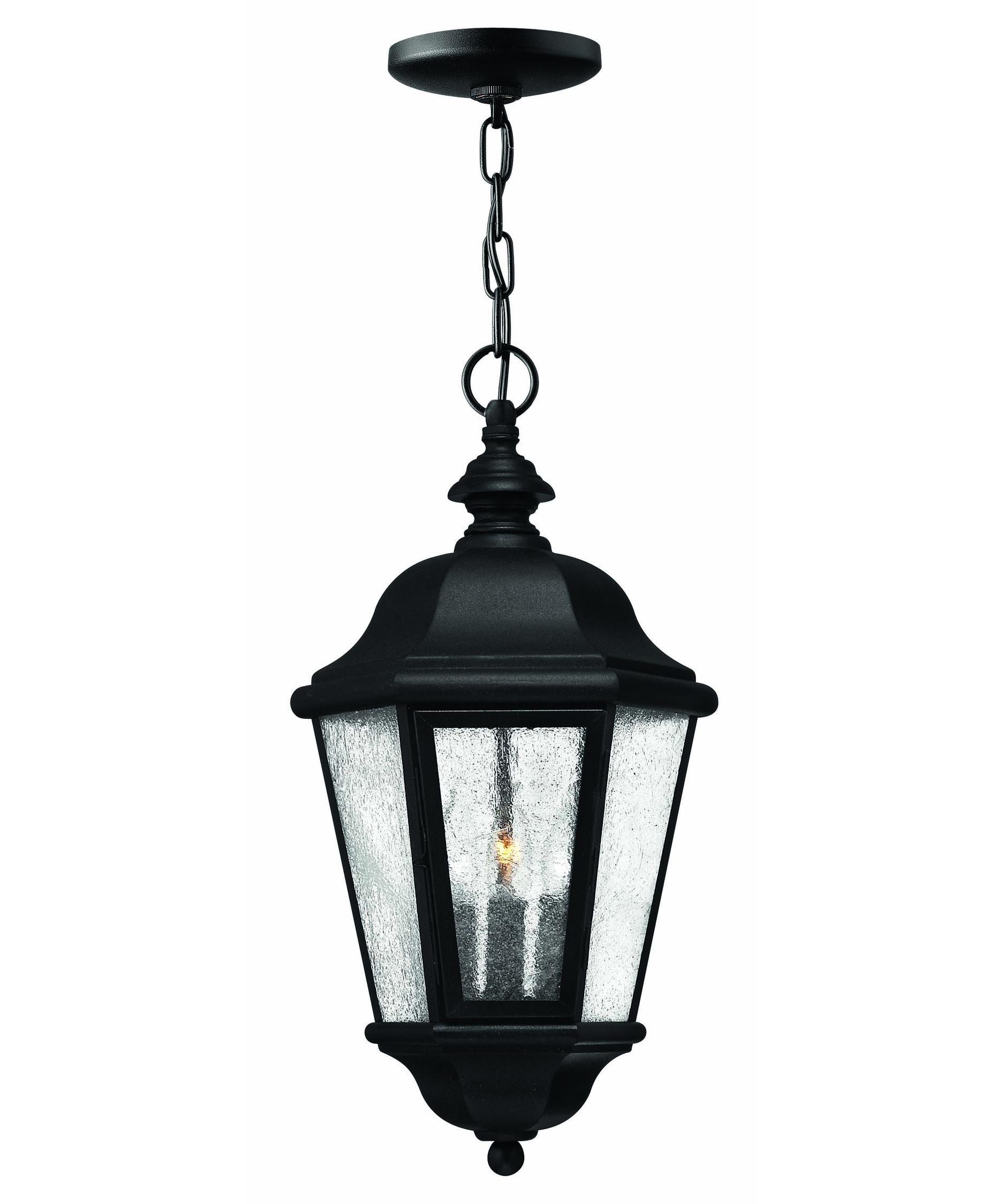 Popular Photo of Outdoor Hanging Light Fixtures In Black