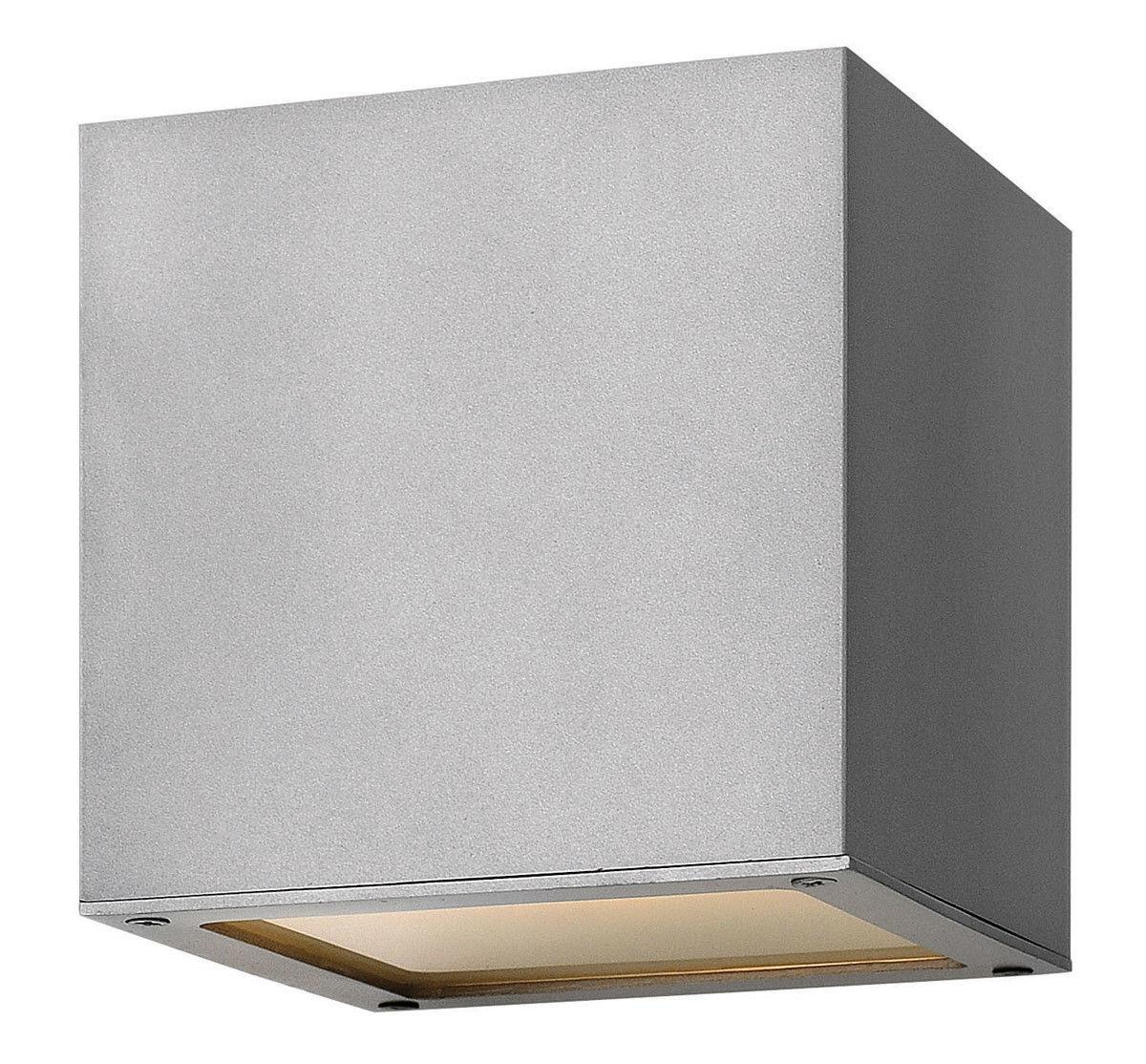 Hinkley Lighting 1767Tt Kube Outdoor Wall Lights Titanium | Ebay Intended For Outdoor Wall Lighting At Ebay (#9 of 15)