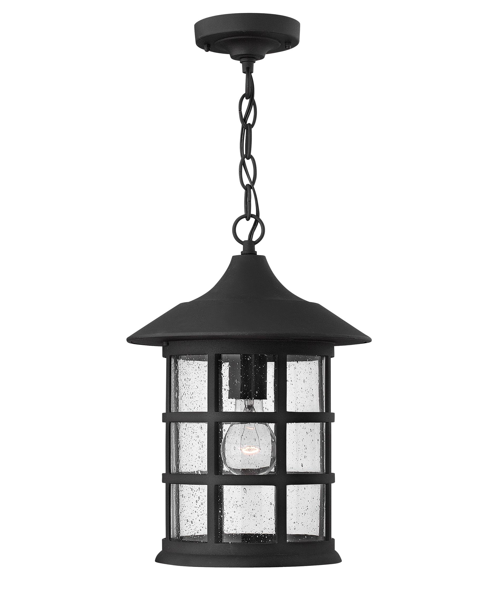 Hinkley Lighting 1802 Freeport 10 Inch Wide 1 Light Outdoor Hanging Intended For Outdoor Hanging Light Fixtures In Black (View 5 of 15)