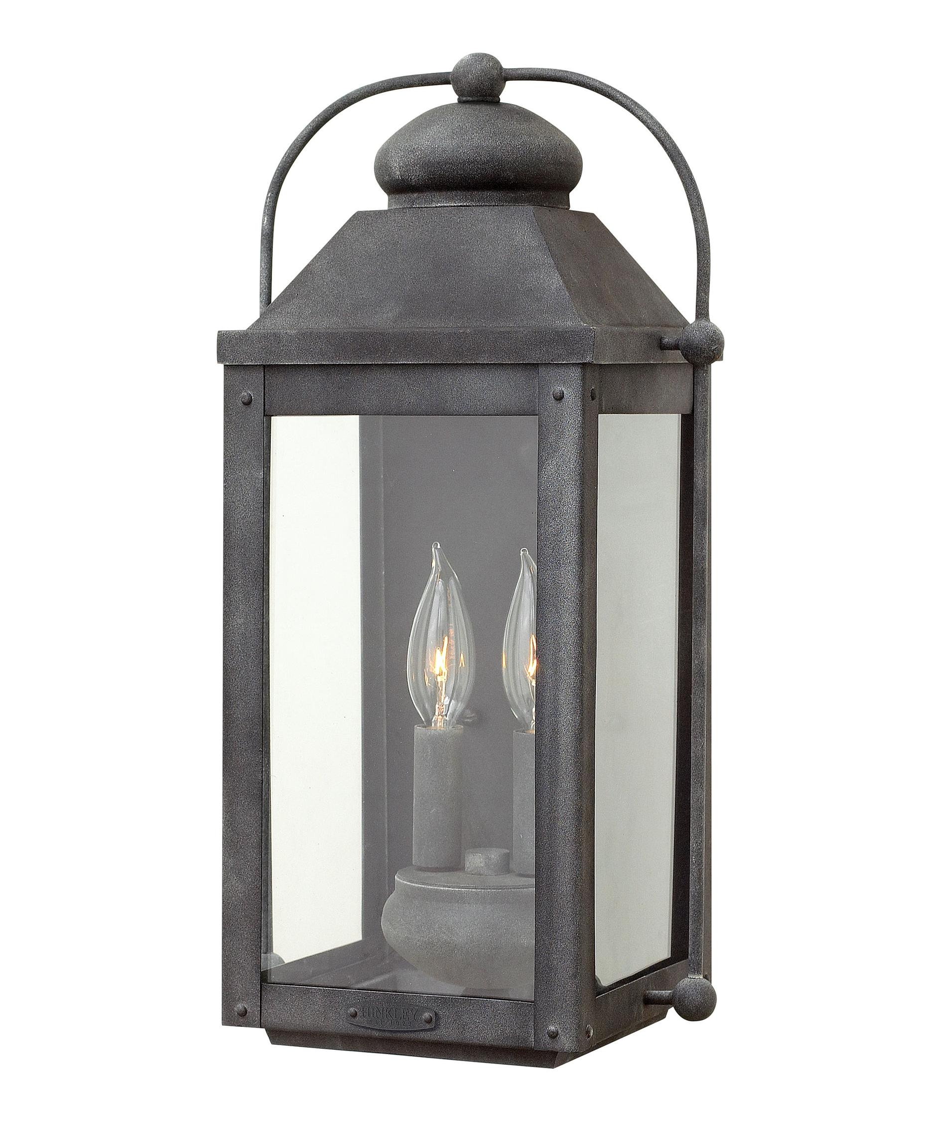 Hinkley Lighting 1854 Anchorage 9 Inch Wide 2 Light Outdoor Wall In Modern Latern Hinkley Lighting (#11 of 15)