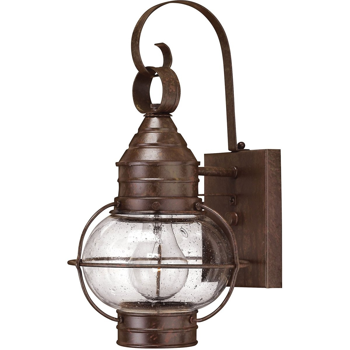 Hinkley Lighting 2206Sz Cape Cod 1 Light 14 Inch Sienna Bronze Pertaining To Mini Wall Mount Hinkley Lighting (#10 of 15)