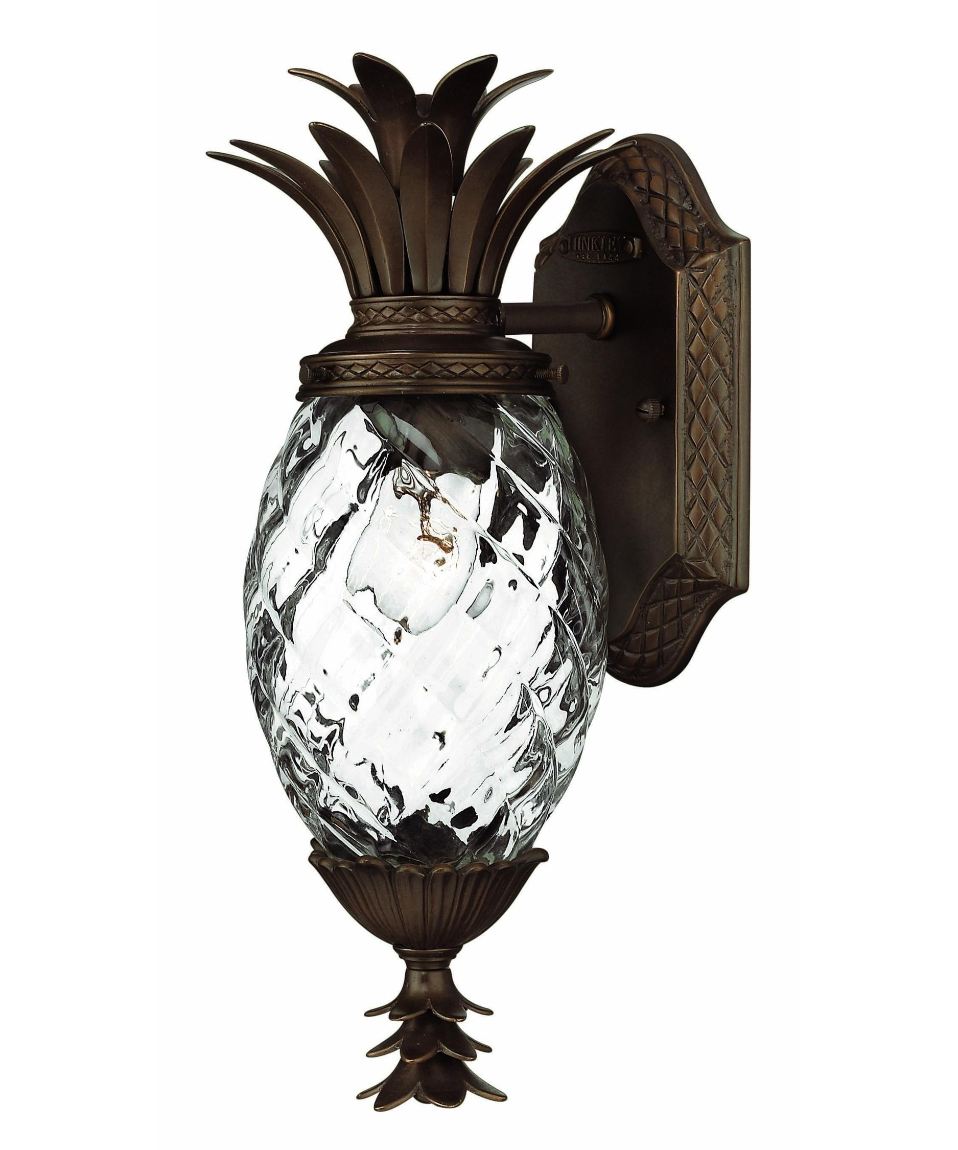 Hinkley Lighting 2226 Plantation Exterior 6 Inch Wide 1 Light For Tropical Outdoor Wall Lighting (#4 of 15)