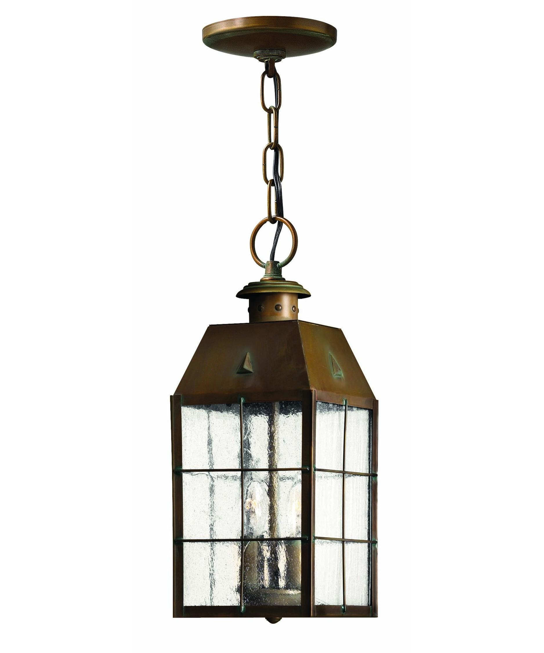 Hinkley Lighting 2372 Nantucket 6 Inch Wide 2 Light Outdoor Hanging Throughout Outdoor Hanging Glass Lights (#5 of 15)
