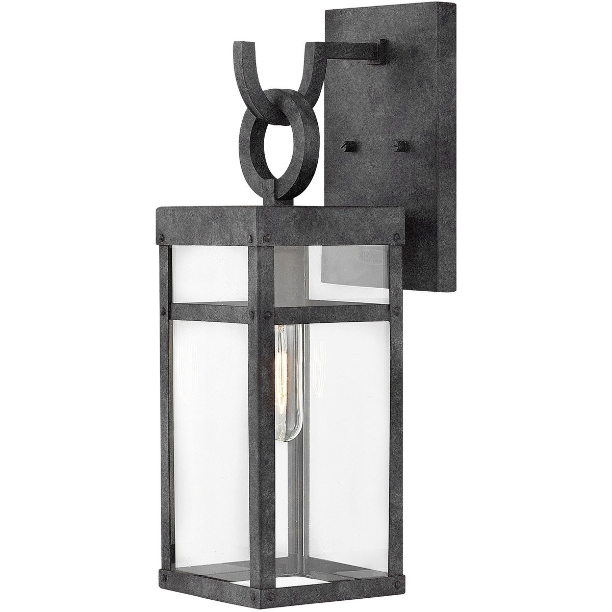 Hinkley Lighting 2800Dz Porter 1 Light 19 Inch Aged Zinc Outdoor Pertaining To Mini Wall Mount Hinkley Lighting (#11 of 15)