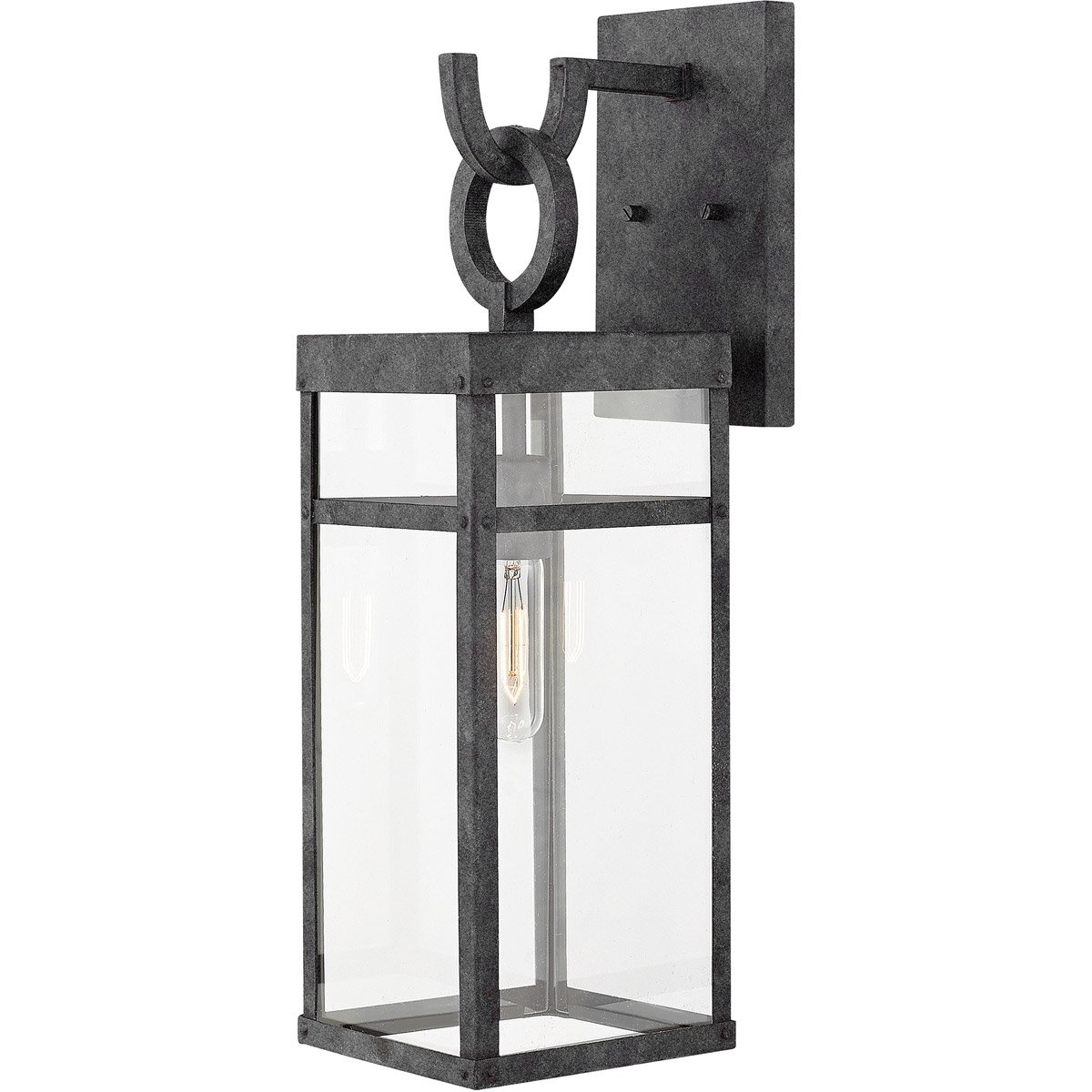 Hinkley Lighting 2804Dz Porter 1 Light 22 Inch Aged Zinc Outdoor In Mini Wall Mount Hinkley Lighting (#12 of 15)