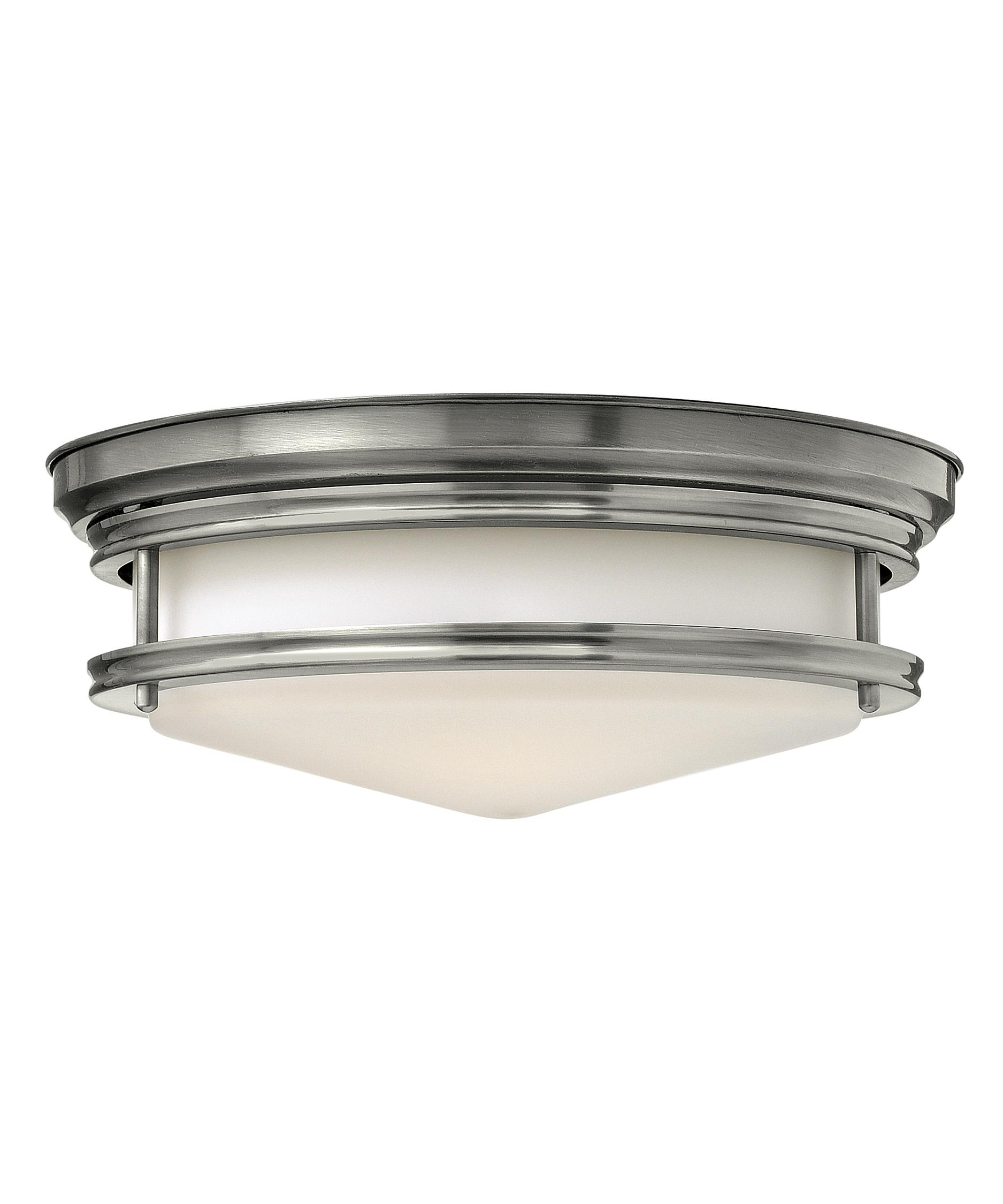 Hinkley Lighting 3301 Hadley 14 Inch Wide Flush Mount | Capitol Inside Double Wall Mount Hinkley Lighting (#10 of 15)