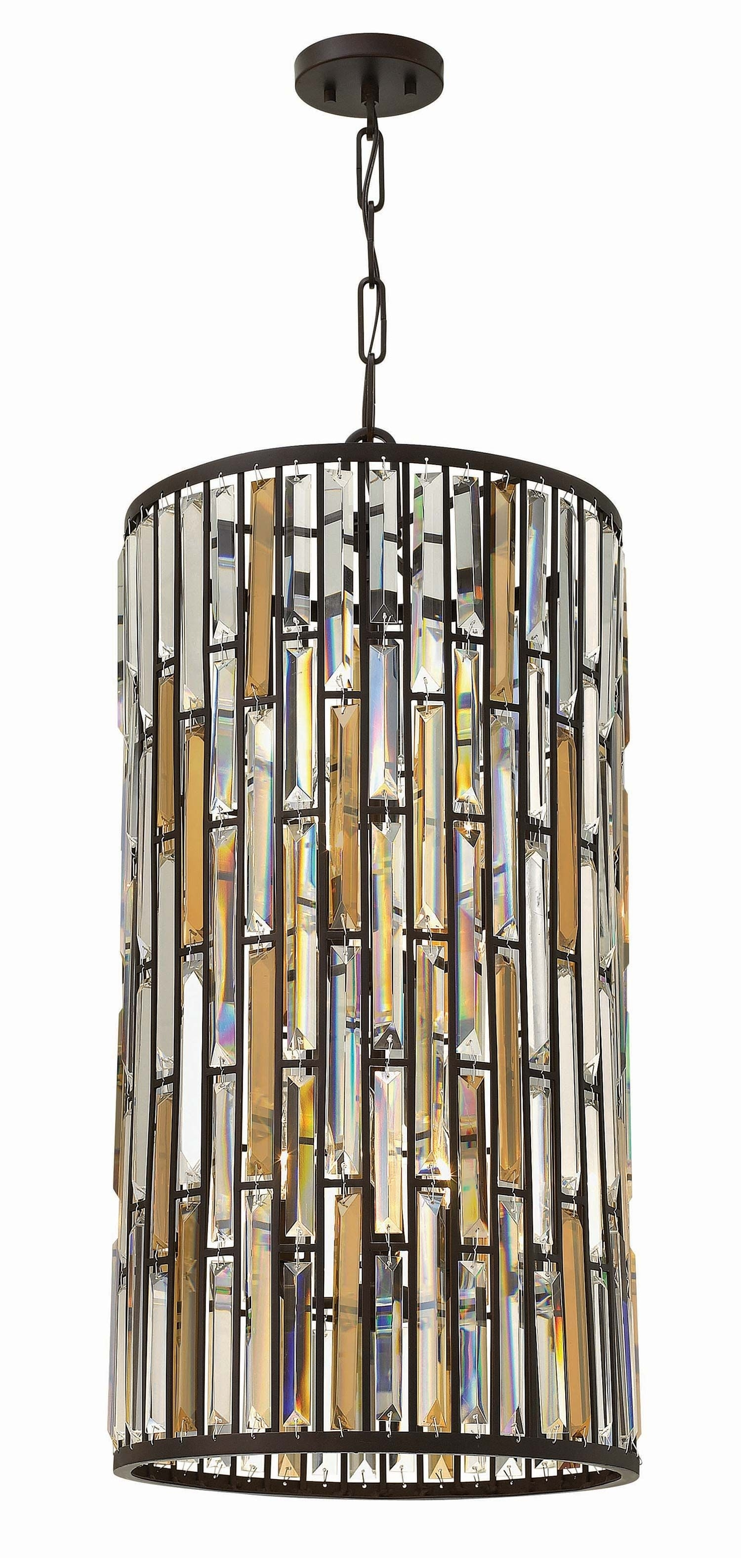 Hinkley Lighting 6 Light Gemma Foyer Iridescent Glass | Dream Home Pertaining To Contemporary Hinkley Lighting (#11 of 15)