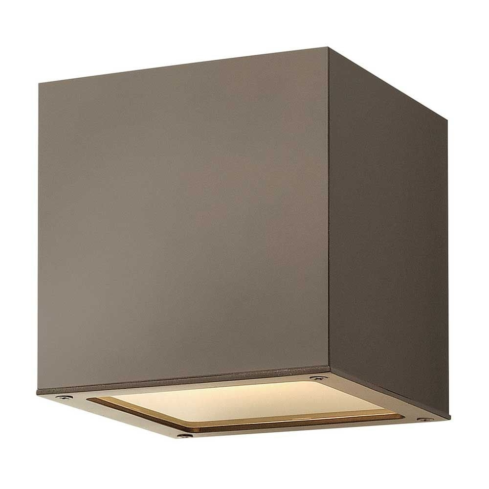 Hinkley Lighting Kube Mini Wall Outdoor | Affordable & Unique For Mini Wall Mount Hinkley Lighting (#13 of 15)