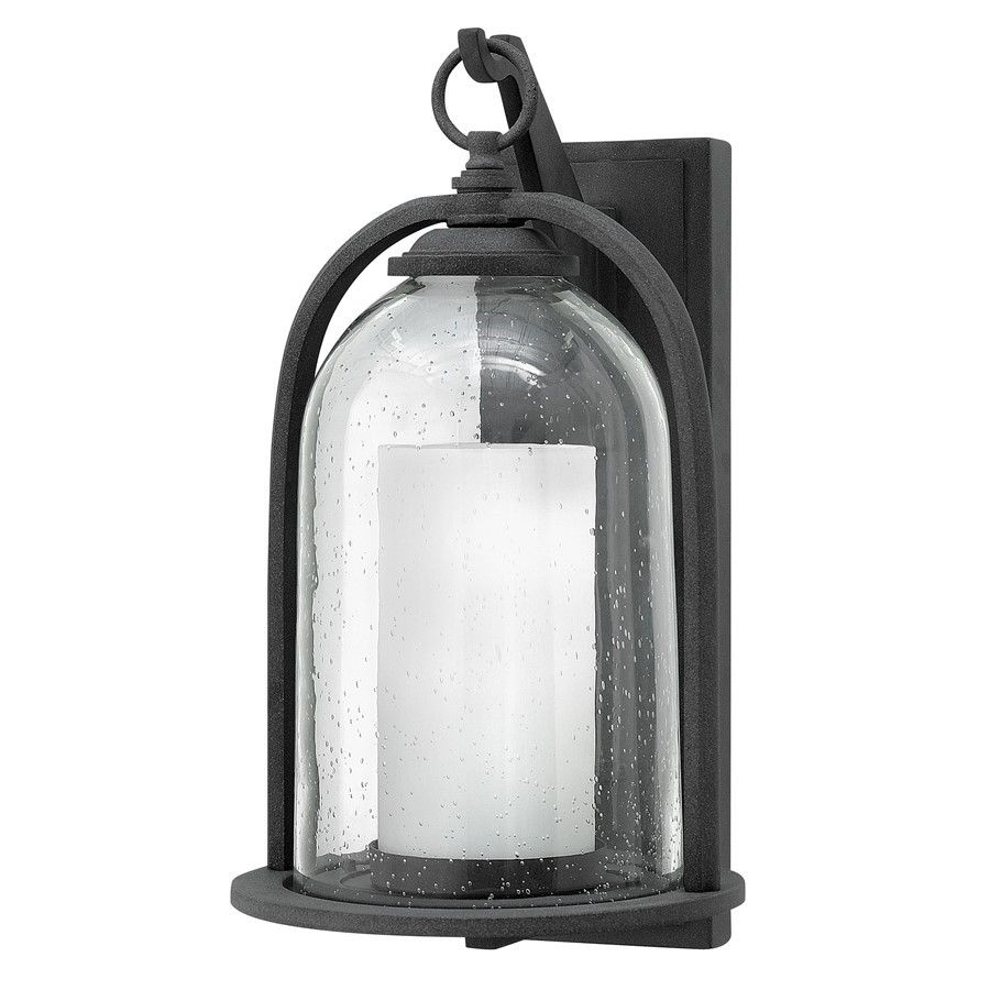 Hinkley Lighting Quincy 1 Light Outdoor Large Wall Mount Aged Zinc With Regard To Large Wall Mount Hinkley Lighting (#6 of 15)
