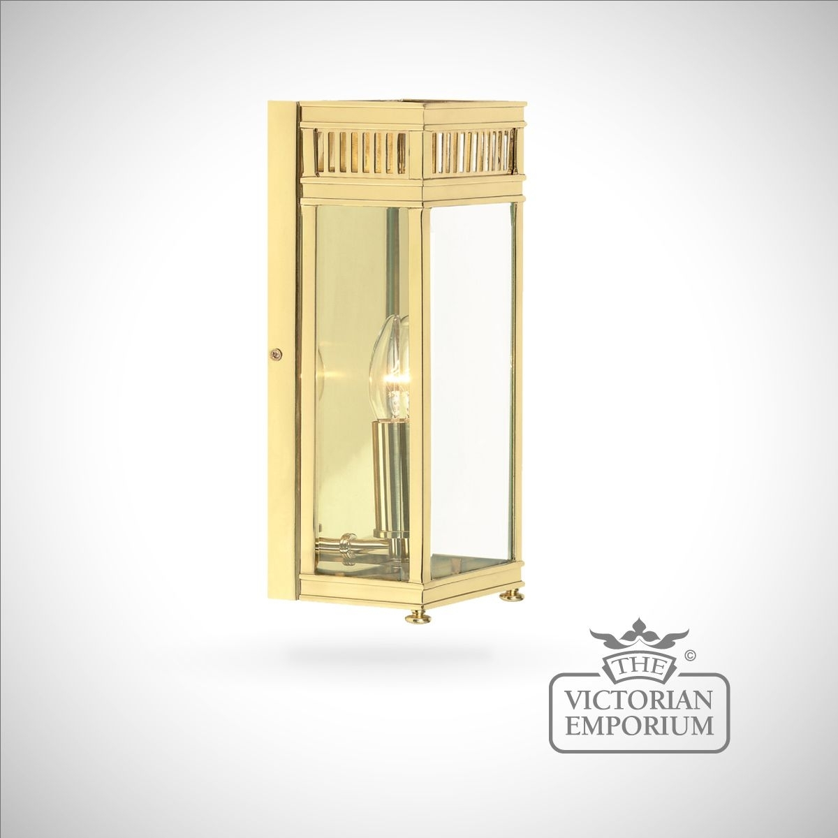 Holborn Wall Lantern In Polished Brass – Small   Outdoor Wall Lights Intended For Polished Brass Outdoor Wall Lights (#5 of 15)