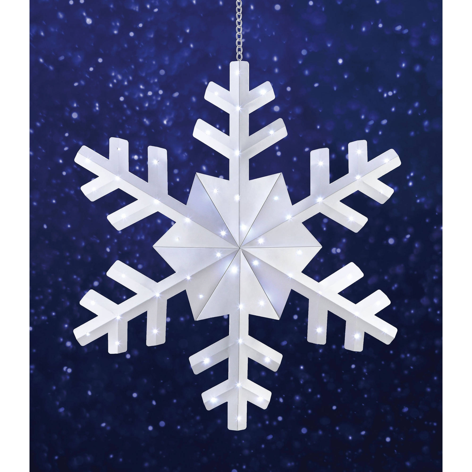 """Holiday Time 36"""" Snowflake Christmas Outdoor Hanging Light, Cool In Outdoor Hanging Snowflake Lights (View 6 of 15)"""