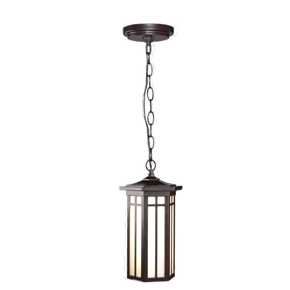 Home Decorators Collection Led Outdoor Hanging Antique Bronze Light Regarding Outdoor Hanging Lights At Ebay (View 9 of 15)